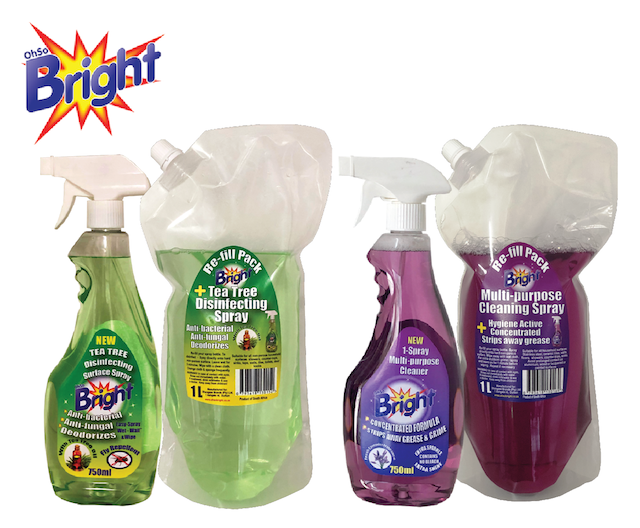 OhSoBright Cleaning and disinfecting sprays